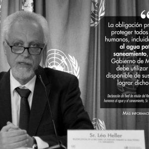 Declaración de final de misión del Relator Especial sobre los derechos humanos al agua y al saneamiento, Sr. Léo Heller