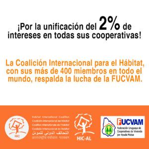 Carta de solidaridad con la FUCVAM