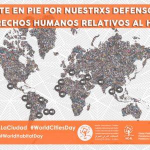 ¡Ponte en Pie por Nuestr@s Defensor@s de Derechos Humanos al Hábitat en el Día Mundial por el Derecho a la Ciudad!