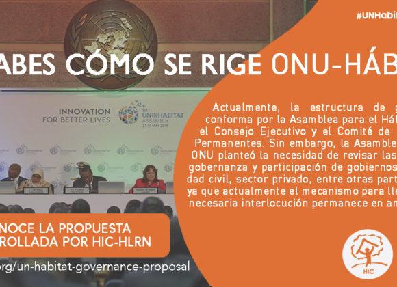 Estructuras de gobernanza de ONU Hábitat: propuesta para una mayor participación de las partes interesadas
