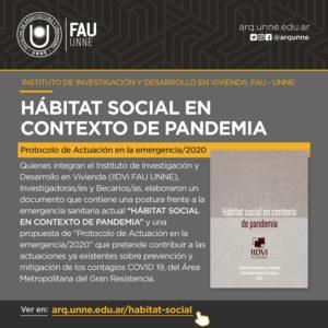 Argentina – IIDVi (UNNE): Hábitat Social en contexto de pandemia