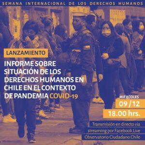 Chile: Observatorio Ciudadano –  Informe sobre situación de los DDHH en Chile en el contexto de pandemia COVID19