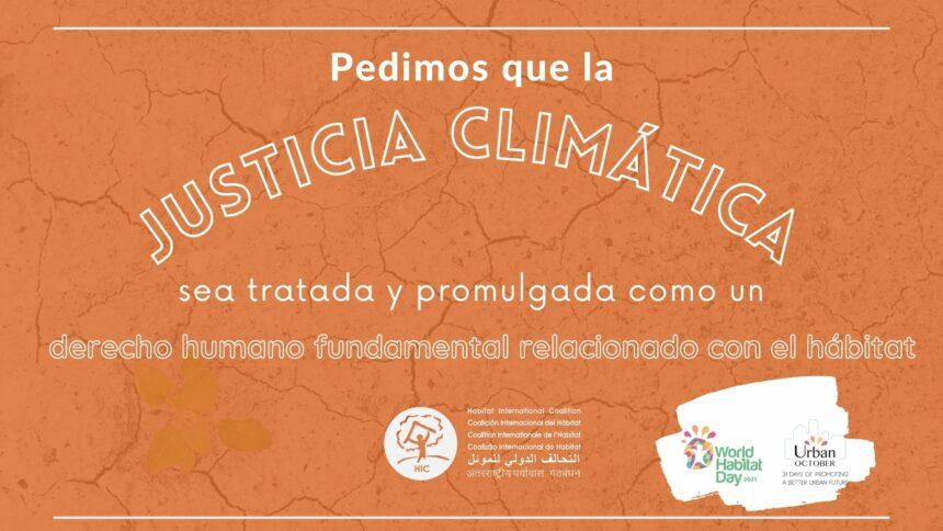 Declaración: Día Mundial del Hábitat